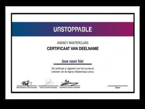 agency masterclass certificaat