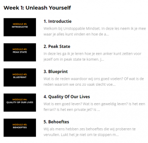 unstoppable mindset week 1